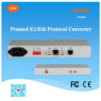 FCTEL E1 to 4 Channels 10/100Base-T Ethernet SNMP Managed Protocol Converter