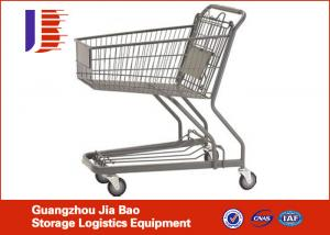 China 4-Wheels Supermarket Shopping Carts 80L With High Capacity on sale