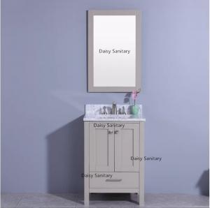 China Dark Grey Color American Standard Vanity , One Piece Basin Custom Bathroom Vanities on sale