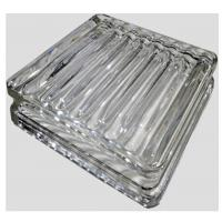 Decorative transparent glass paver glass floor tile