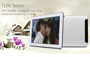 China RK3066 ARM Cortex A9 Dual Core 1 . 5GHz 10 Inch Capacitive Android Tablet With camera on sale