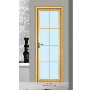 China Silver Aluminium Glass Doors / Office Tempered Interior Glass Door on sale