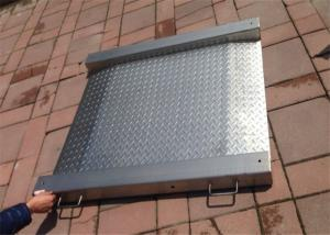 China Stainless Steel Industrial Floor Scale 5 Ton Max Capacity With Integrated Ramps on sale