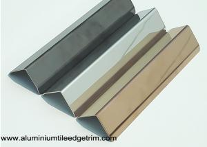 China 25mm X 25mm Aluminum / Stainless Steel Corner Guards For Walls Mirror Effect on sale