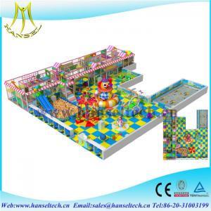 China Hansel indoor playground facility children plastic houses amusement soft play equipment on sale