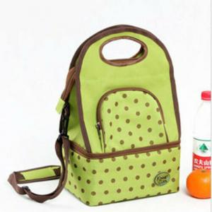 China Green Travel Insulated Cooler Bags Keep Food Cold With Adjustable Shoulder Strap on sale