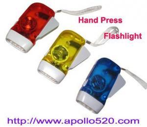 China Hand Press Battery Free Flashlight on sale