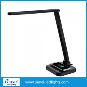 China 5 Grade Brightness Led Reading Lamp / Black Desk Lamp With Usb Port 4-9 W on sale