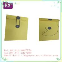 China Button&String Paper Documents Envelope on sale