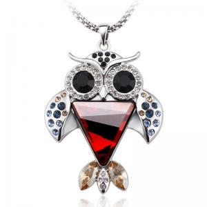 China Ref No.:141016 Elegant Owl  Brooch sweater chain of dual-use  Necklace shopping online jewellery fashion jewelry packa on sale