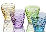 Stock Rain Drop Vintage Drinking Glasses , 260ml Colored Drinking Glasses
