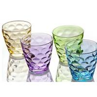 China Stock Rain Drop Vintage Drinking Glasses , 260ml Colored Drinking Glasses on sale