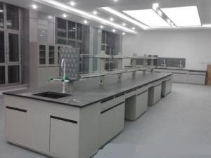 China Hospital Chemical Steel Lab Furniture Acid Alkali Resistant Benchtop Free Design on sale