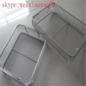 China medical stainless steel wire basket/Perforated Mesh Basket/Mesh Sterilization Trays/ Mesh Sterilization Baskets on sale