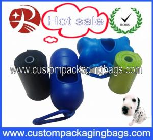 China Scented Biodegradable Dog Poop Bags / Dog Waste Bags With Dispenser on sale