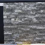 Natural stone , Granite Stacked Stone , Grey Granite Stone Wall Rockface Cladding