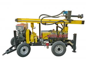 China 4 Wheels Dth Drilling Equipment Rock Drilling Machine For 110m Water Well on sale