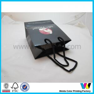 China Black small art card paper / glossy coated Paper Merchandise Bags on sale