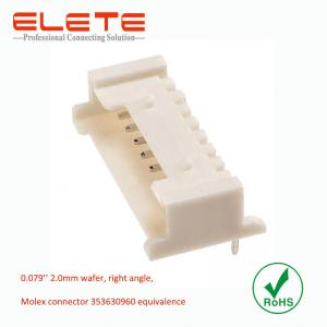China Wire to board connector, 2.0mm wafer, right angle, Molex connector 353630960 equivalence on sale