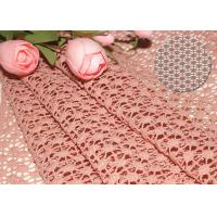 47 Inches Guipure French Venise Lace Fabric / Embroidered Dress Fabric By Azo Free