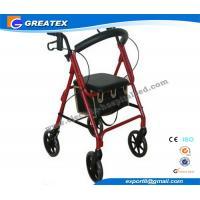 Lightweight folding rollator 4 wheel walker , folding walking frames for the elderly
