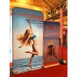 Tension Fabric Banner stands , Fabric tube display Aluminium Material