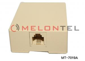 China Telephone Surface Mount Outlet Box Filled With Gel , Plastic Wall Mount RJ11 Box on sale