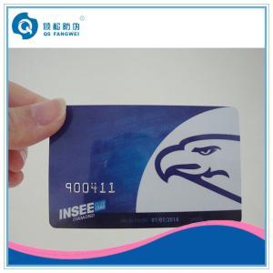 China Carte de PVC CR80 avec le numéro de série en plastique gravant en refief d'impression de carte de nombre on sale