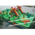恐竜および熱帯雨林 0.55mm ポリ塩化ビニールの防水シートの子供の &Adults の膨脹可能な楽しみ都市遊園地