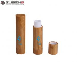China 5 G Cylinder Bamboo Empty Lip Balm Tubes / bamboo Lip Balm Containers on sale