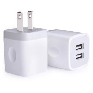 China USB Wall Charger Adapter 2.1Amp Dual Port Quick Charger Plug Cube for iPhone on sale