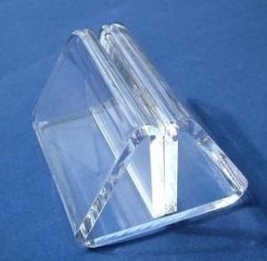 China Transparent Acrylic Table Menu Holders With Beautiful Shape on sale
