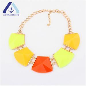 China Fashion Featured Geometric Matching Hot Biangle Necklace BNC06104 on sale