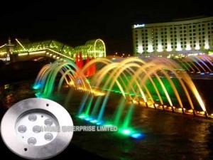 China 18W RGB IP68 Waterproof Underwater LED Pool Lights With Stainless Steel 316 on sale