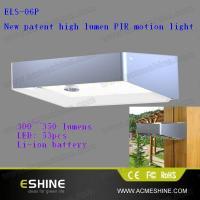 300~350lumens super bright PIR sensor solar garden light