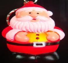 China OEM design personalised PVC Led flashing Christmas Keychain for Xmas party nice christmas  on sale