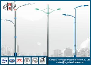 China Steel Tapered Street Light Poles Hot Dip Galvanized Surface Q345 on sale