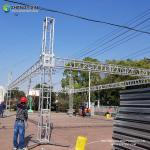 China Aluminium Lighting Square Truss 350 x 350 mm for Event Concert Stage Outdoor wedding stage display aluminum truss wholesale
