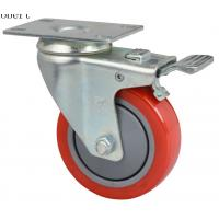 China Extra Heavy Duty Industrial Polyurethane Caster Wheels Red Color For MIMA Forklift on sale