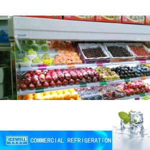 China Hot sale commercial upright fruit display fridge open display refrigerator on sale