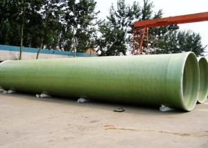 China High Quality ISO9001 Anti Corrosion FRP Pipe FRP Pipe with Sand Filler on sale