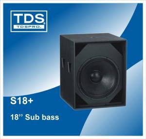 China Subwoofer, Subwoofer Speaker, 18 inch Subwoofer, 18 inch Sub Bass, 18 Subwoofer Speaker, Bass Speaker Cabinet S18+ on sale