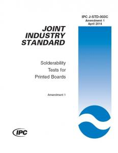 China IPC J-STD-003:  Solderability Tests for Printed Boards PDF FILE FREE DOWNLOAD   ENGLISH/CHINESE on sale