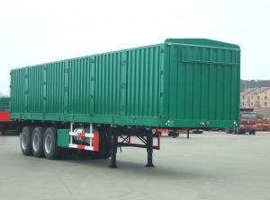 China 3 Axle Dry Van Trailer Cargo Box Van Trailer 13M Length For Coal Transporting on sale