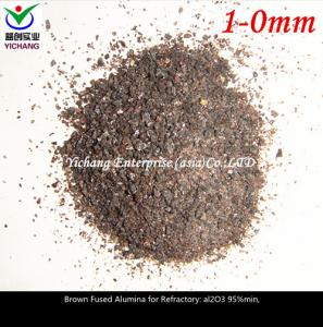 China High Purity Brown Fused Aluminium Oxide Section Sands And Fine Powder on sale