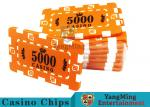 Custom Design Cheap Casino Poker Chips , ABS Plastic Numbered Poker Chips