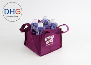 China Eco Friendly Non Woven Bag Large Capacity X Sewing CMYK  non woven wine bag on sale