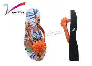 China Sweet slippers female summer wear thick bottom outside beach shoes ladies sandals on sale