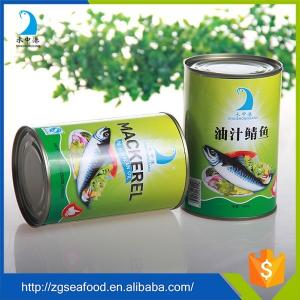 China High quality canned mackerel fish in Oil/Tomato Sauce/Brine on sale