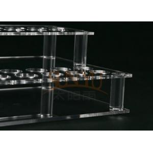 China Customized Clear Acrylic Makeup Display Stand Lipstick Display Holder on sale